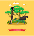 homeless in flat style vector image