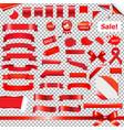 big red ribbon set vector image