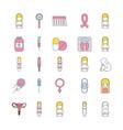 icon set pregnancy cartoon vector image