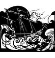 Storm Ship vector image vector image
