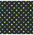 Tile polka dots dark pattern vector image