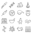 Clinical medical laboratory line icons set vector image vector image