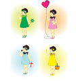 Little girl on a holiday vector image