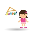 Education design school icon isolated vector image