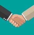 businessmans handshake shaking hands vector image