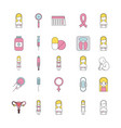 icon set pregnancy cartoon vector image