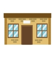single brick building icon vector image