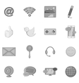 Social media marketing icons set vector image