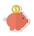 piggy savings money icon vector image vector image