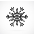 Gray Snowflake Icon Over White vector image