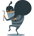 Robber in mask vector image vector image