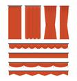 velvet curtains vector image