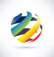 abstract rainbow globe icon vector image