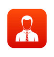 businessman icon digital red vector image vector image