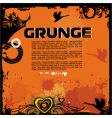 grunge background with birds vector image vector image