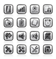 Mobile Phone sign icons vector image