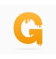 Letter G logo or symbol icon vector image