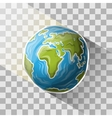 Doodle globe vector image