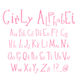 girly alphabet vector image