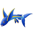 Flying Fish Cartoon Character vector image