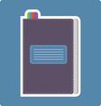 A dark purple writing notebook card vector image