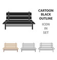 bench icon in cartoon style isolated on white vector image