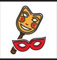 different vintage masks for carnival vector image