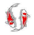 koi fish design vector image