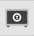 money safe icon in flat style on isolated vector image