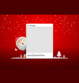 photo frame social merry christmas with santa vector image