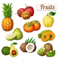 Set of cartoon food icons isolated on white vector image