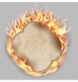 Sheet of paper in flame EPS 10 vector image