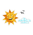 sun in sky isolated icon vector image
