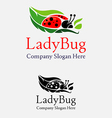 Lady Bug logo vector image