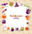 Greeting Card for Halloween Party with Colorful vector image