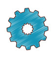 gear settings setup icon vector image