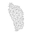 map of dominica from polygonal black lines vector image
