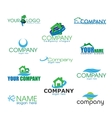 Collection of Eco Logotypes in vector image