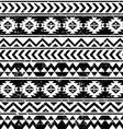 Aztec tribal seamless grunge white pattern vector image
