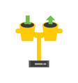 Download and upload weight vector image vector image