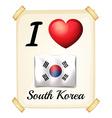 I love South Korea vector image vector image
