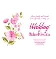 Wedding invitation Flower background vector image vector image