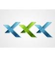 XXX corporate geometric logo design vector image vector image