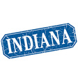 Indiana blue square grunge retro style sign vector image