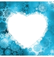 christmas heart frame vector image