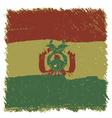 Flag of Bolivia handmade square shape vector image