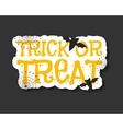Happy Halloween trick and treat flyer template - vector image