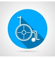 Round icon for wheelchair vector image