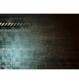 Dark hi-tech grunge background vector image vector image