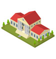bank building isometric view vector image